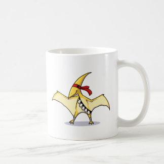 Pterodactylは卵を食べ、それらを使用する方法を知っています コーヒーマグカップ