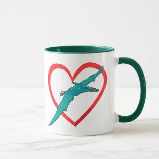 Pterosaurのハート マグカップ