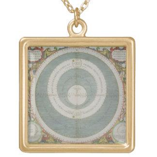Ptolemaicシステム、「天の地図書から、かTh ゴールドプレートネックレス