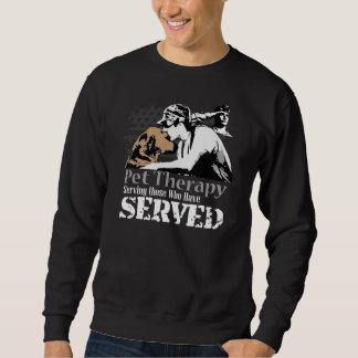PTSDのためのペットセラピーを促進するトレーナー スウェットシャツ