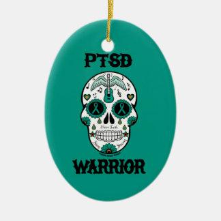 PTSDの戦士の砂糖のスカル セラミックオーナメント