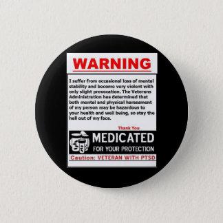 PTSDの警告ボタン 缶バッジ