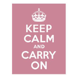 PuceのKeep Calm and Carry On ポストカード