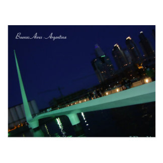 Puente de la Mujer、ブエノスアイレス、アルゼンチン ポストカード