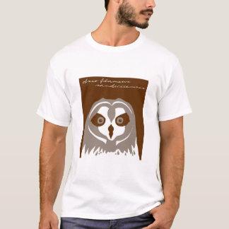 Pueo、かハワイの短い耳付つきのフクロウ Tシャツ