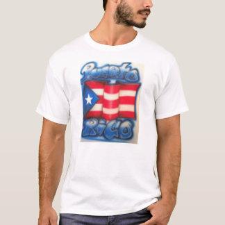 Puert Ricanの旗のワイシャツ Tシャツ