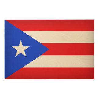 Puerto Rico Flag ウッドウォールアート