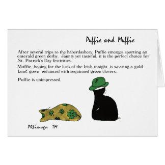 PuffieおよびMuffieセントパトリック日カード カード