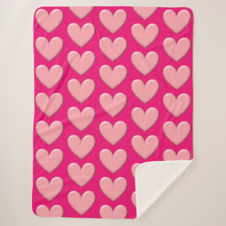 Puffy Hearts Blanket シェルパブランケット