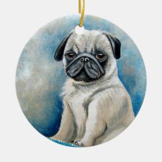 Pug Ornament氏 セラミックオーナメント