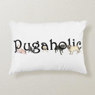 """Pugaholicのアクセントの枕16"""" x12 """" アクセントクッション"""