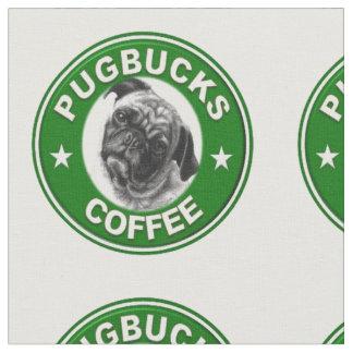 Pugbucksのコーヒー生地 ファブリック