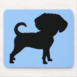Puggleおもしろいでかわいく大きいヘッド犬 マウスパッド