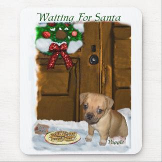 Puggleのクリスマスのギフト マウスパッド