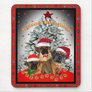 Puggleの季節の挨拶のマウスパッド マウスパッド