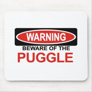 Puggleの用心して下さい マウスパッド
