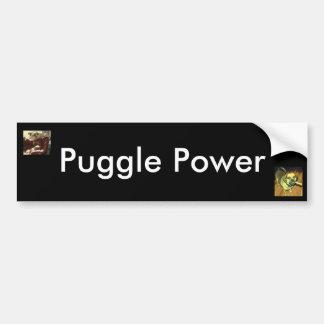 Puggle力 バンパーステッカー