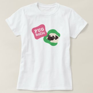 PUGholic レディース Tシャツ