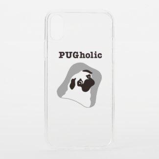 PUGholic MONO クリア Uncommon iPhoneケース