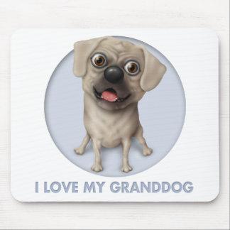 Pugle 2 -私のGranddogを愛して下さい マウスパッド