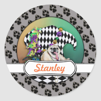 Pugsgivingの謝肉祭2015年の-スタンリー-パグ ラウンドシール