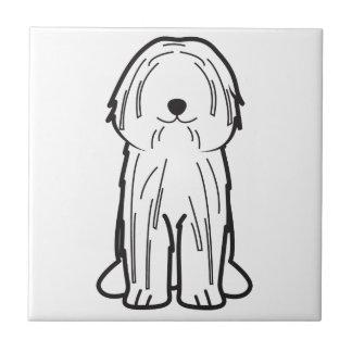 Puli犬の漫画 正方形タイル小