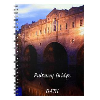 Pulteney橋、Bathのノート ノートブック
