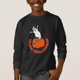 Pumpkin and Ghost - T-shirt Tシャツ