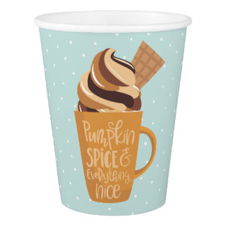 Pumpkin Spice and Everything Nice Latte Paper Cups 紙コップ