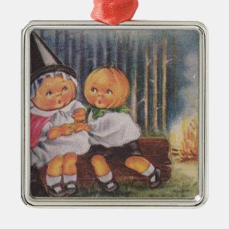 Pumpkinheadの魔法使いの火の森林カボチャ メタルオーナメント