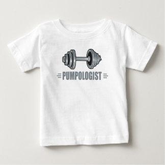 Pumpologistのポンプ鉄の重量挙げ ベビーTシャツ