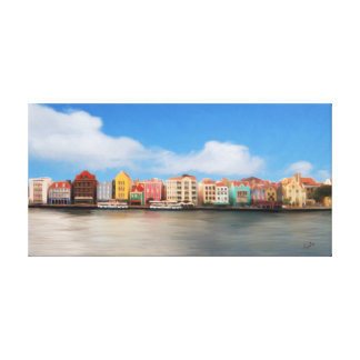 Punda、Willemstad、Curaçaoはキャンバスのプリントを伸ばしました キャンバスプリント
