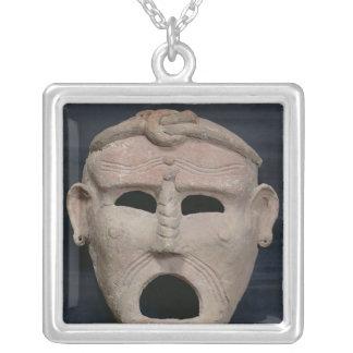 Punic魅力のマスク、紀元前の第3第2世紀 シルバープレートネックレス