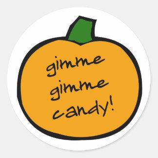 punkin_gimmie_candy ラウンドシール