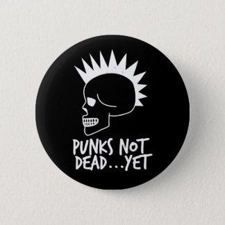 Punks Not Dead...Yet Skull Dark 5.7cm 丸型バッジ