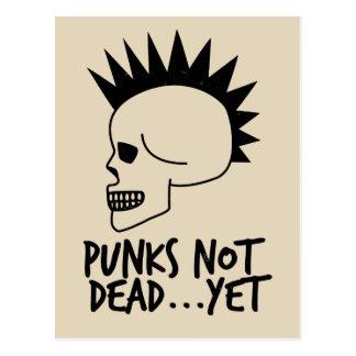 Punks Not Dead...Yet Skull White ポストカード