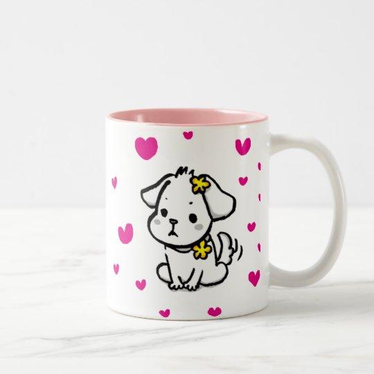 puppy cup ツートーンマグカップ
