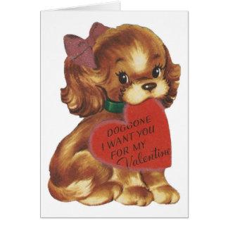 Puppy Valentineヴィンテージの女性 カード