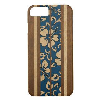 Pupukeaのヴィンテージのハワイの模造のな木製のサーフボード iPhone 7ケース