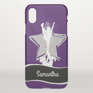 Purpl Cheerleader Flyer personalized iphone X case iPhone X ケース