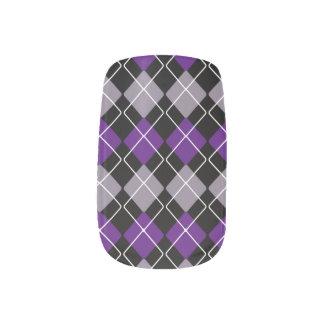 Purple Argyle ネイルアート
