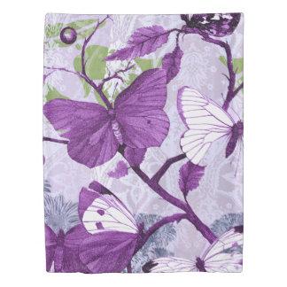 Purple Butterflies 掛け布団カバー