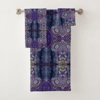 purple diamond towel set バスタオルセット