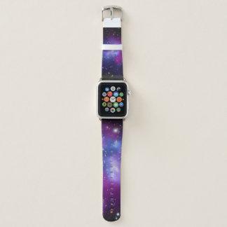 Purple Galaxy Cluster Space Image Apple Watchバンド