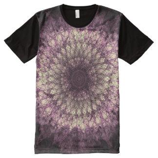 Purple Mandala オールオーバープリントT シャツ