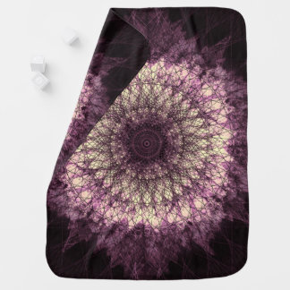 Purple Mandala ベビー ブランケット