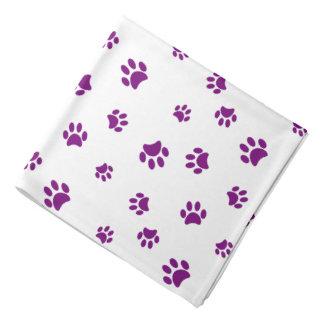 Purple Paw Prints Pattern バンダナ