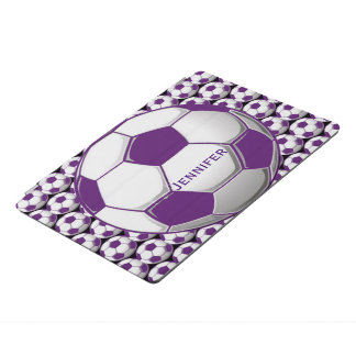 Purple Soccer Balls Design iPad Cover iPad Proカバー