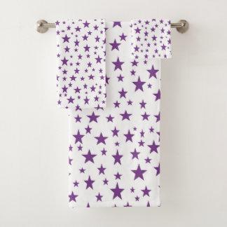 Purple Stars バスタオルセット