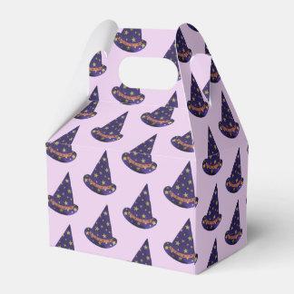 Purple Wizard Hats Halloween Treat Boxes フェイバーボックス